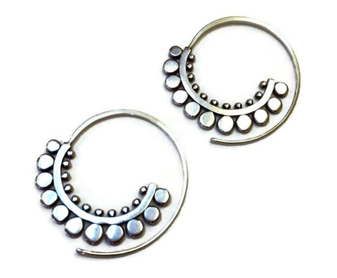 Sasha Bell Jewelry - Sunflower Spiral Hoop Earrings