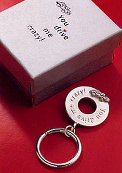 Vilmain Pewter - You Drive Me Crazy Key Ring