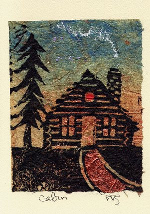 Salmonberry Studio - Cabin Note Card