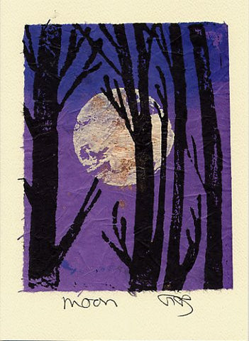 Salmonberry Studio - Moon Note Card