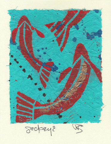 Salmonberry Studio - Sockeye Note Card