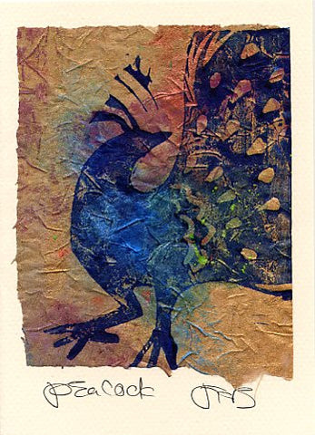 Salmonberry Studio - Peacock Note Card