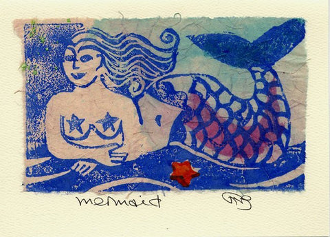 Salmonberry Studio - Mermaid Note Card