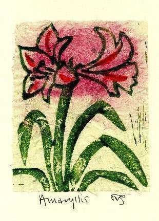 Salmonberry Studio - Amaryllis Note Card