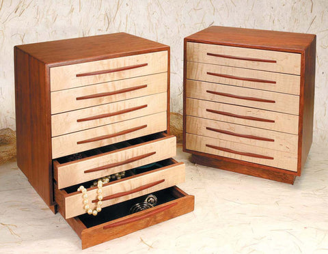 Mike Fisher - Heartwood Creations - 7 Drawer Jewelry Box