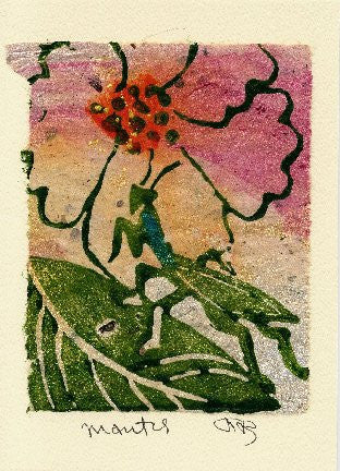 Salmonberry Studio - Mantis Note Card