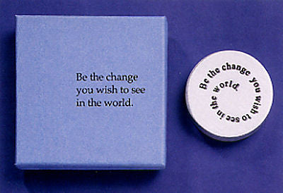 Vilmain Pewter -  Be The Change Paperweight