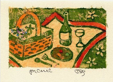 Salmonberry Studio - Picnic Note Card
