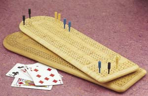Mike Fisher - Heartwood Creations -  Continuous 3-Track Cribbage Board
