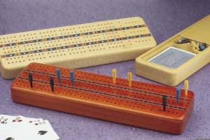 Mike Fisher - Heartwood Creations -Three Track Cribbage Board