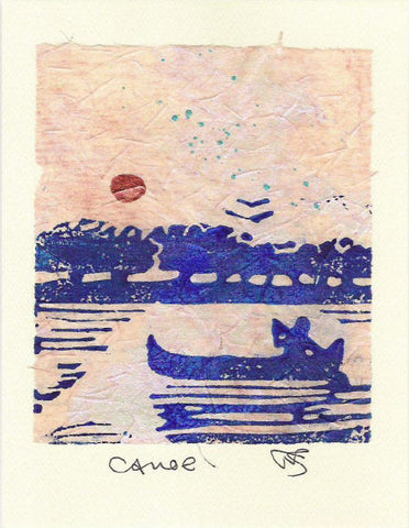 Salmonberry Studio - Canoe Note Card