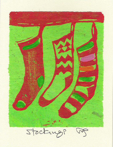 Salmonberry Studio - Stockings Note Card