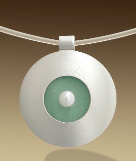 Mar Jewelry - Circular  Sea Glass Pendant