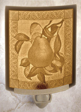 The Porcelain Garden - Pear - Lithophane Night Light
