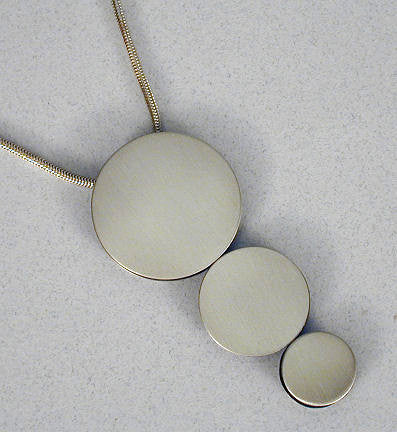 Mar Jewelry - Three Circles Silver Pendant