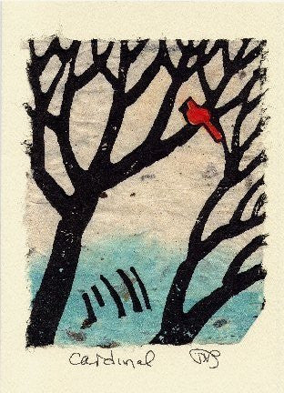 Salmonberry Studio - Cardinal Note Card