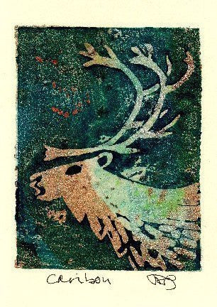 Salmonberry Studio - Caribou Note Card