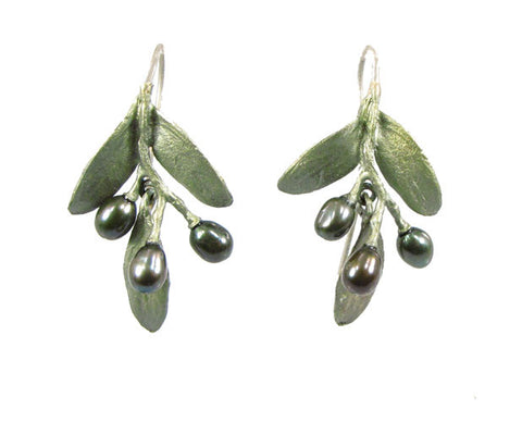 Silver Seasons - Michael Michaud - Olive Earrings