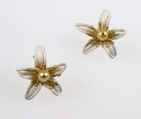 Silver Seasons - Michael Michaud - Orange Blossom Post Earrings