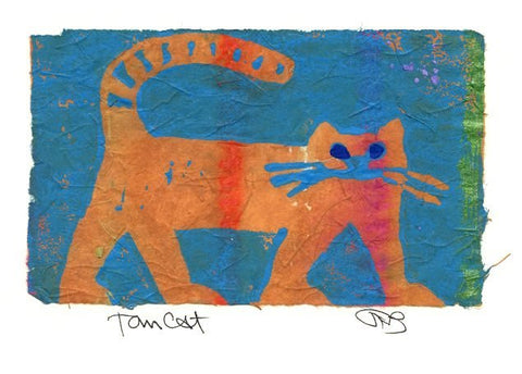Salmonberry Studio - Tomcat Note Card
