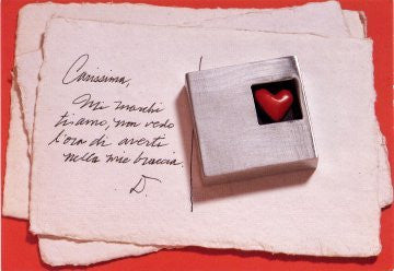 Vilmain Pewter - Square Heart Paperweight