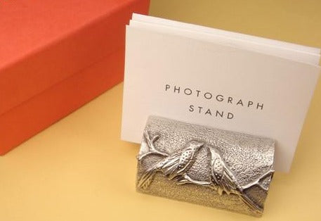 Vilmain Pewter - Love Birds Photo Stand