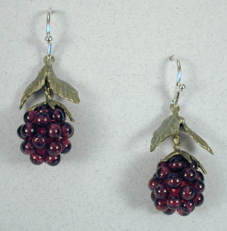 Silver Seasons - Michael Michaud - Raspberry Wire Drop Earrings