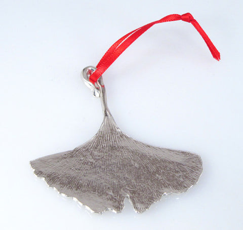 Vilmain Pewter - Gingko Leaf Ornament