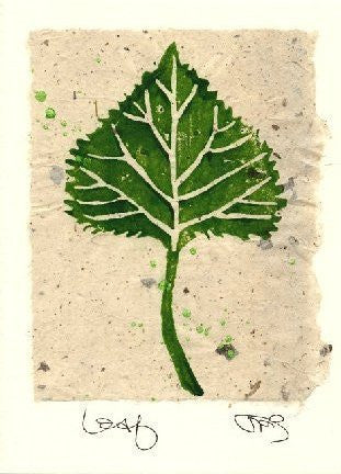 Salmonberry Studio - Leaf Note Card
