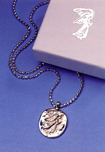 Vilmain Pewter - Angel Pendant in Sterling Silver