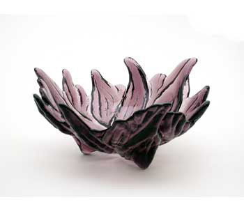 Hudson Beach Glass - Hibiscus Bowl in Amethyst