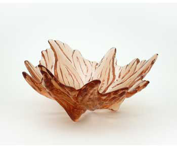 Hudson Beach Glass - Hibiscus Bowl in Topaz