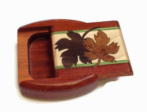 Heartwood Creations - Secret Box - Maple Leaves Inlay