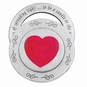 Danforth Pewter - Heart Purse Mirror