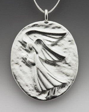 Vilmain Pewter - Large Angel Ornament