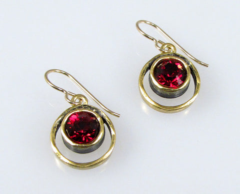 Patricia Locke Jewelry - Skeeball Earrings in Ruby