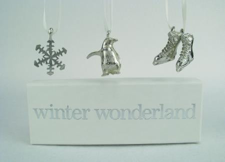 Vilmain Pewter - Winter Wonderland Ornaments