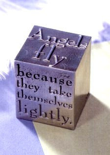 Vilmain Pewter - Angels Fly Paperweight