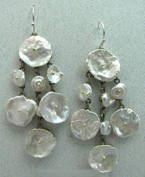 Silver Seasons - Michael Michaud - Silver Dollar Shower Earrings