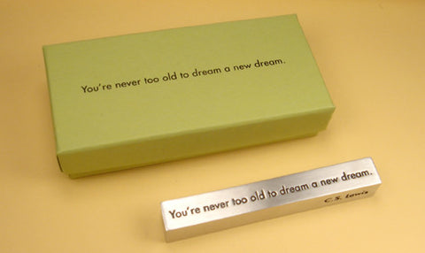 Vilmain Pewter - Dream A Little Paperweight