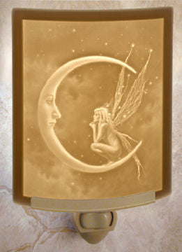 The Porcelain Garden - Fairy Moon - Lithophane Night Light