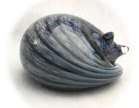 Nunwell Glass - Sleeping Cat Paperweights