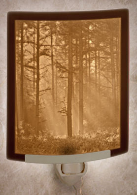 The Porcelain Garden - Woodland Sunbeams - Lithophane Night Light
