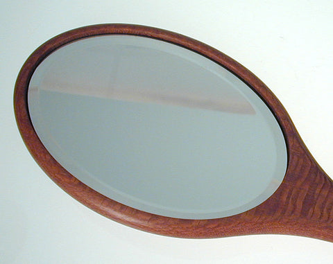 Davin & Kesler Woodworking - Bird's Eye Maple Wood Hand Mirror