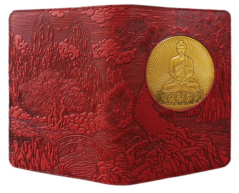 Oberon Design - Bodhi Tree Buddha Icon Luxe Refillable Leather Journal