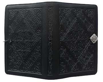 Oberon Design - Celtic Diamond Small Refillable Leather Journal