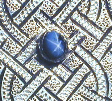 Rick Deeks - Celtic Sterling Silver Money Clip with Star Sapphire