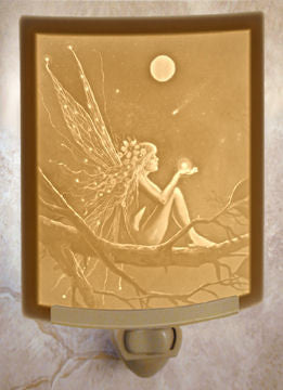The Porcelain Garden - Catch A Falling Star - Lithophane Night Light