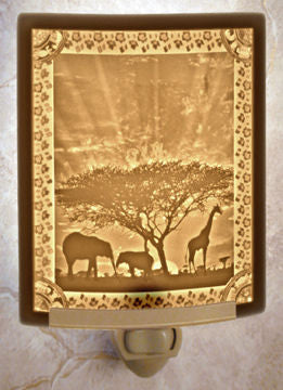 The Porcelain Garden - African Sunset - Lithophane Night Light