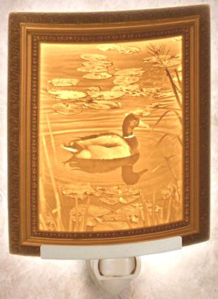 The Porcelain Garden - Ripples - Lithophane Night Light